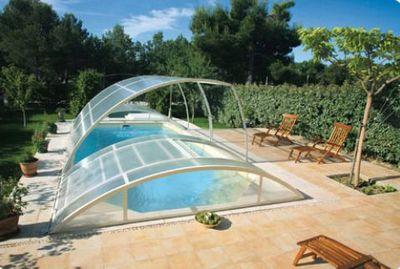Abrideal - Abri de piscine bas amovible-Abrideal