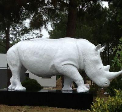 ESPACE DESIGN BORDEAUX - Sculpture animali�re-ESPACE DESIGN BORDEAUX-Rhinoc�ros blanc