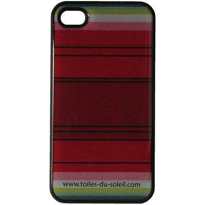 Les Toiles Du Soleil - Coque de téléphone portable-Les Toiles Du Soleil-Coque iPhone 4/4S  PASTEQUE ROUGE
