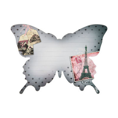 Orval Creations - Magnet �lectrom�nager-Orval Creations-M�mo magn�tique Papillon Voyage en France