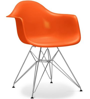 Charles & Ray Eames - Chaise réception-Charles & Ray Eames-Chaise Eiffel AR orange Lot de 4