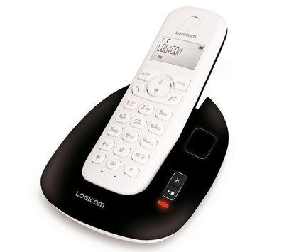 LOGICOM - T�l�phone-LOGICOM-Tlphone rpondeur DECT Manta 155T - noir/blanc