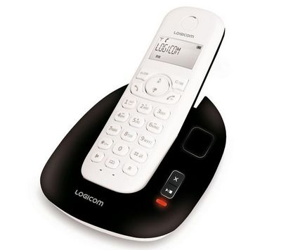 LOGICOM - Téléphone-LOGICOM-Tlphone rpondeur DECT Manta 155T - noir/blanc