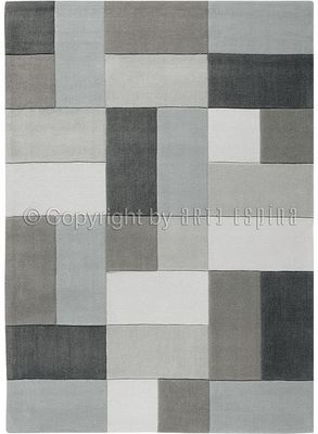 Arte Espina - Tapis contemporain-Arte Espina-Tapis de salon REFLECTIVE 4 gris 170x240 en Acryli