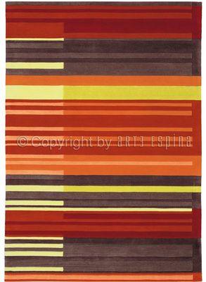 Arte Espina - Tapis contemporain-Arte Espina-Tapis COLOUR CODES rouge 200x300 en Acrylique