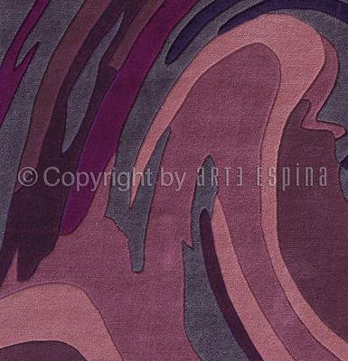 Arte Espina - Tapis contemporain-Arte Espina-Tapis de salon ACTION PAINTING violet 170x240 en A