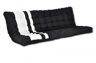 Futon Design - Matelas banquette BZ-Futon Design-Matelas-futon Blanc et Noir ZINO dos eveloppant 13