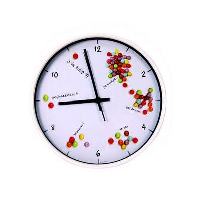 WHITE LABEL - Pendule murale-WHITE LABEL-Horloge Gourmande Bonbons
