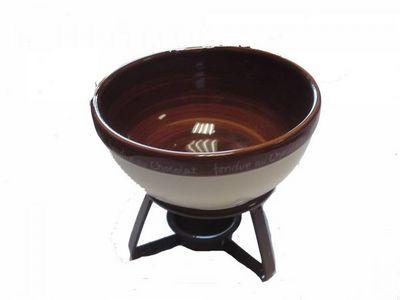 WHITE LABEL - Fontaine à chocolat-WHITE LABEL-Service à fondue pour le chocolat en céramique ave