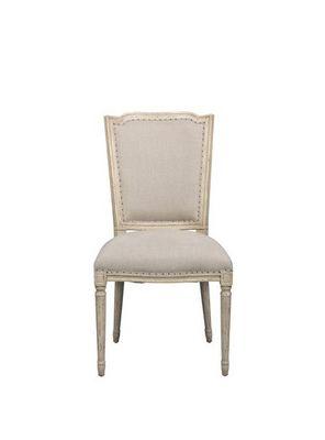 BLANC D'IVOIRE - Chaise-BLANC D'IVOIRE-AMELIE