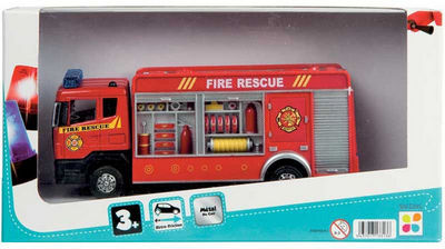 WDK Groupe Partner - Voiture miniature-WDK Groupe Partner-Camion pompier en métal 21x5x12cm