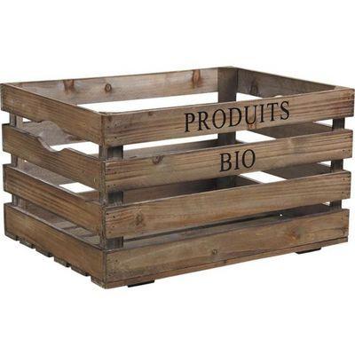 Aubry-Gaspard - Caisse de rangement-Aubry-Gaspard-Caisse en Bois Produits Bio
