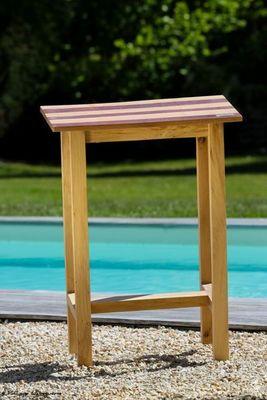 DOUELLES AND DESIGN - Table d'appoint de jardin-DOUELLES AND DESIGN-Parquettée