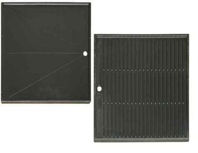 INVICTA - Accessoires barbecue-INVICTA-Plaque cuisson plancha reversible en fonte 32x48x2