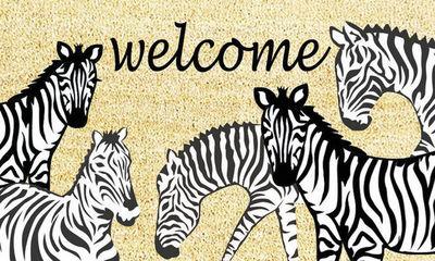 Aubry-Gaspard - Paillasson-Aubry-Gaspard-Paillasson Z�bres Welcome en Coco et Latex