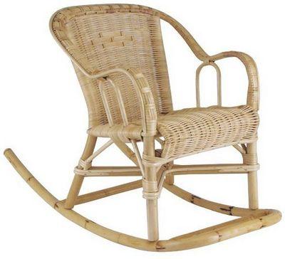 Aubry-Gaspard - Fauteuil Enfant-Aubry-Gaspard-Rocking chair pour enfant en rotin Chloé