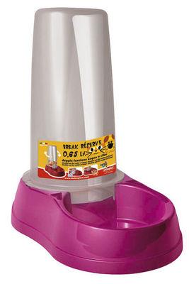 ZOLUX - Gamelle-ZOLUX-Distributeur mixte fuchsia pour eau ou croquettes