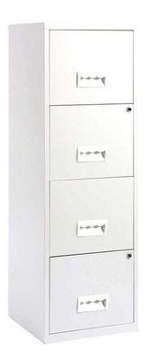 jardindeco - Classeur à tiroirs-jardindeco-Colonne de rangement tiroirs en métal Blanc