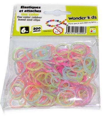 WONDER KIDS - Bracelets caoutchouc-WONDER KIDS-Recharges elastiques translucides pour bracelets t