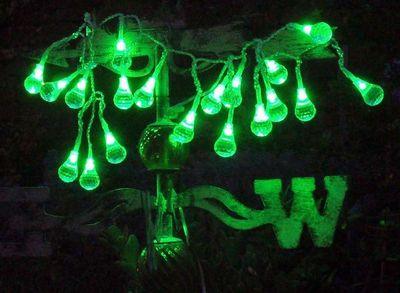 FEERIE SOLAIRE - Guirlande lumineuse-FEERIE SOLAIRE-Guirlande solaire boules à facettes 20 leds vertes