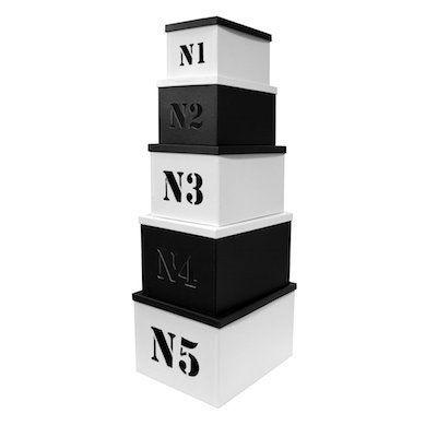 Cm - Boite de rangement-Cm-Set de 5 bo�tes n�5