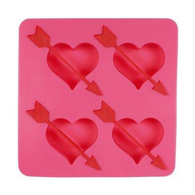 La Chaise Longue - Bac à glaçons-La Chaise Longue-Moule à glaçons coeurs flèche rose