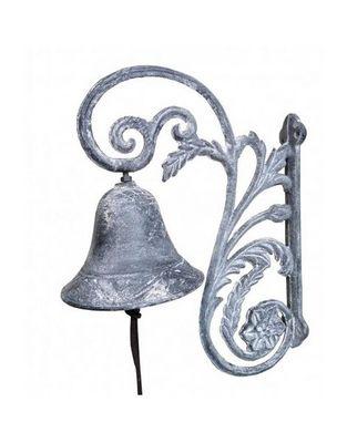 L'HERITIER DU TEMPS - Cloche d'extérieur-L'HERITIER DU TEMPS-Cloche Portail en Fonte 28 cm
