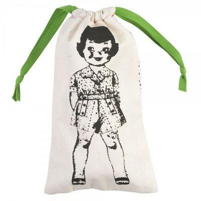 La Chaise Longue - Sac à linge-La Chaise Longue-Pochette à linge Paper Dolls Vert