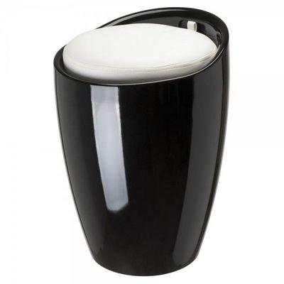 La Chaise Longue - Pouf-La Chaise Longue-Pouf Pop Noir Blanc