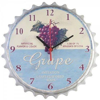 La Chaise Longue - Pendule murale-La Chaise Longue-Horloge Raisin