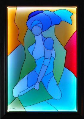 LIGHT MY ART - Tableau contemporain-LIGHT MY ART-� B�douine � � par Salma
