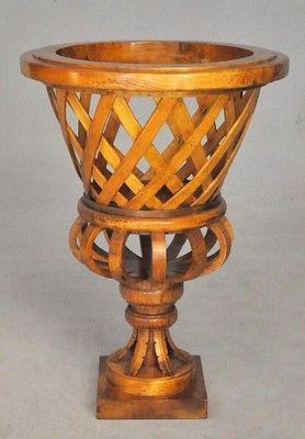 Demeure et Jardin - Vase décoratif-Demeure et Jardin-Vase Tressé en bois verni