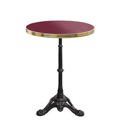 Ardamez - Table bistrot-Ardamez-Table de bistrot émaillée rouge / laiton / fonte