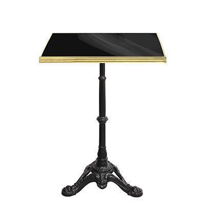Ardamez - Table bistrot-Ardamez-Table de bistrot �maill�e noir / laiton / fonte