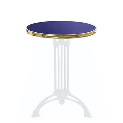 Ardamez - Plateau de table bistrot-Ardamez-Plateau de table de bistrot émaillée / bleu