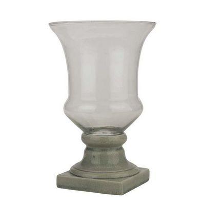 Interior's - Vase � fleurs-Interior's-Vase sur pied gris