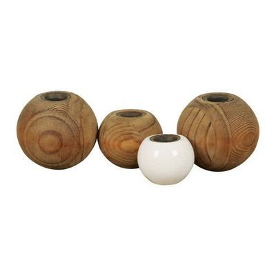 Interior's - Bougeoir-Interior's-Bougeoir 4 boules en bois Atelier
