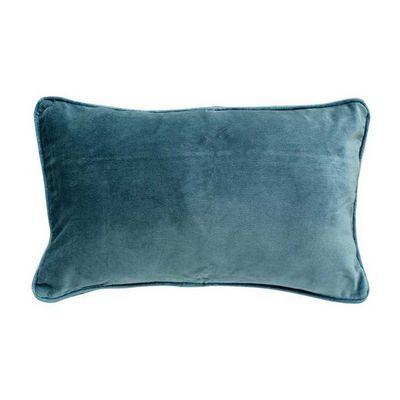 Interior's - Housse de coussin-Interior's-Housse de coussin velours bleu 30x50