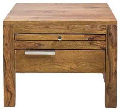WHITE LABEL - Table de chevet-WHITE LABEL-Chevet WOOD en bois massif 1 tiroir