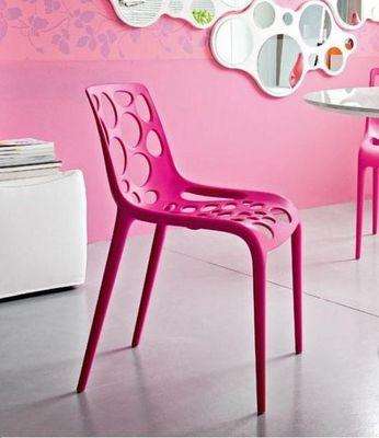 Calligaris - Chaise de jardin-Calligaris-Chaise empilable HERO de CALLIGARIS fuchsia