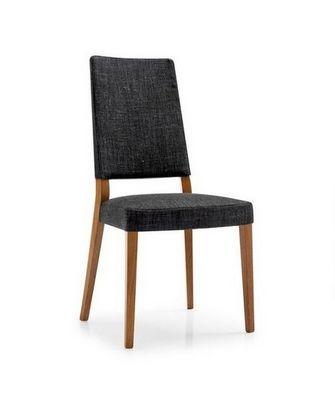 Calligaris - Chaise-Calligaris-Chaise SANDY en hêtre et tissu noir de CALLIGARIS