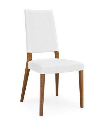 Calligaris - Chaise-Calligaris-Chaise SANDY en simili cuir blanc et hêtre de CALL