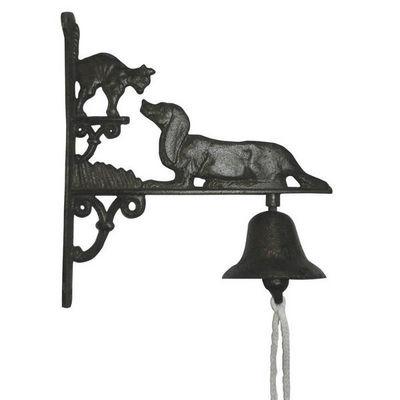 Aubry-Gaspard - Cloche d'extérieur-Aubry-Gaspard-Cloche de jardin chien et chat en fonte