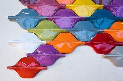 FAUVEL- NORMANDY CERAMICS - Revêtement mural-FAUVEL- NORMANDY CERAMICS-WAVE & DEMI WAVE-