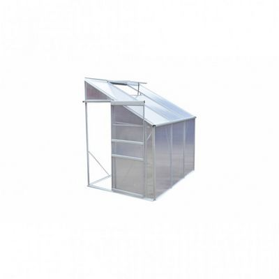 WHITE LABEL - Serre-WHITE LABEL-Serre de jardin polycarbonate 2,6 m²