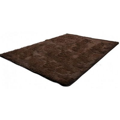 WHITE LABEL - Tapis contemporain-WHITE LABEL-Tapis salon marron poil long taille XL