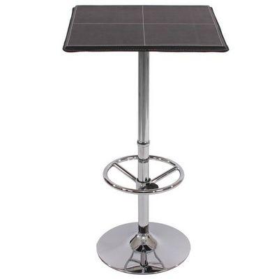 WHITE LABEL - Mange debout-WHITE LABEL-Table haute de bar avec repose-pied noir
