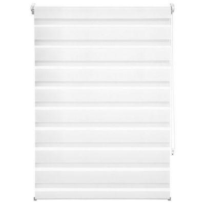 WHITE LABEL - Store enrouleur-WHITE LABEL-Store enrouleur blanc 86 x 120 cm