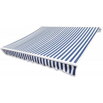 WHITE LABEL - Store banne-WHITE LABEL-Store banne manuel de jardin rétractable 4 x 3 m auvent tonnelle pavillon