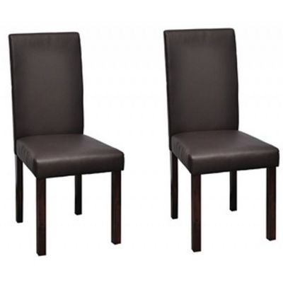 WHITE LABEL - Chaise-WHITE LABEL-2 Chaises de salle a manger marron